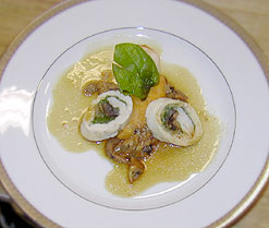 Poached Chicken Roulade