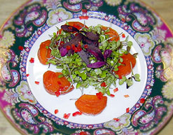 Micro Greens and Beet Salad